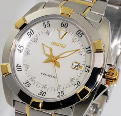 Seiko SXDA68 SXDA68P SXDA68P1 Ladies Velatura Watch Mother of Pearl Dial Watch with 10 real diamonds