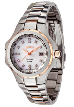 Seiko SXDB64 Ladies Coutura Rose Gold Tone Diamond Watch