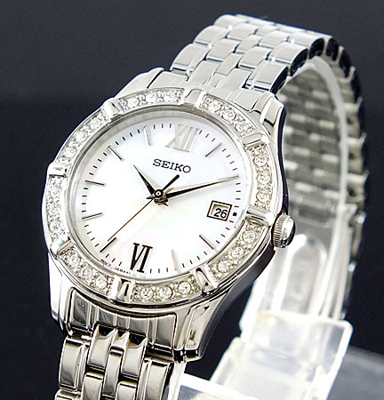 Seiko SXDE49 SXDE49P1 Ladies Dress Watch Crystals
