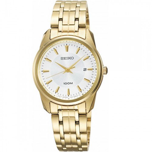 Seiko SXDE72 SXDE72P SXDE72P1 Ladies Gold Watch