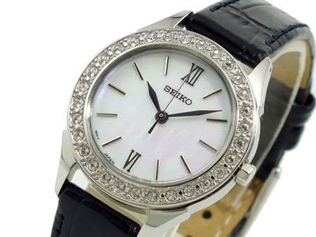 Seiko SXGP27 SXGP27P2 Ladies Watch Crystal Mother of Pearl Dial