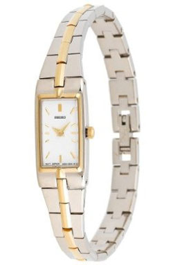 Seiko SZZC40 SZZC40P9 Ladies Watch Bracelet - Gold And Stainless White Dial