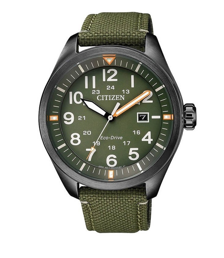 CITIZEN AW5005-21Y Eco-Drive Mens Solar Watch green WR100m