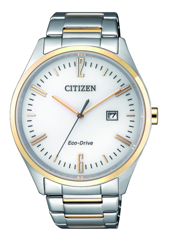 CITIZEN BM7354-85A Eco-Drive Mens Solar Watch two-tone