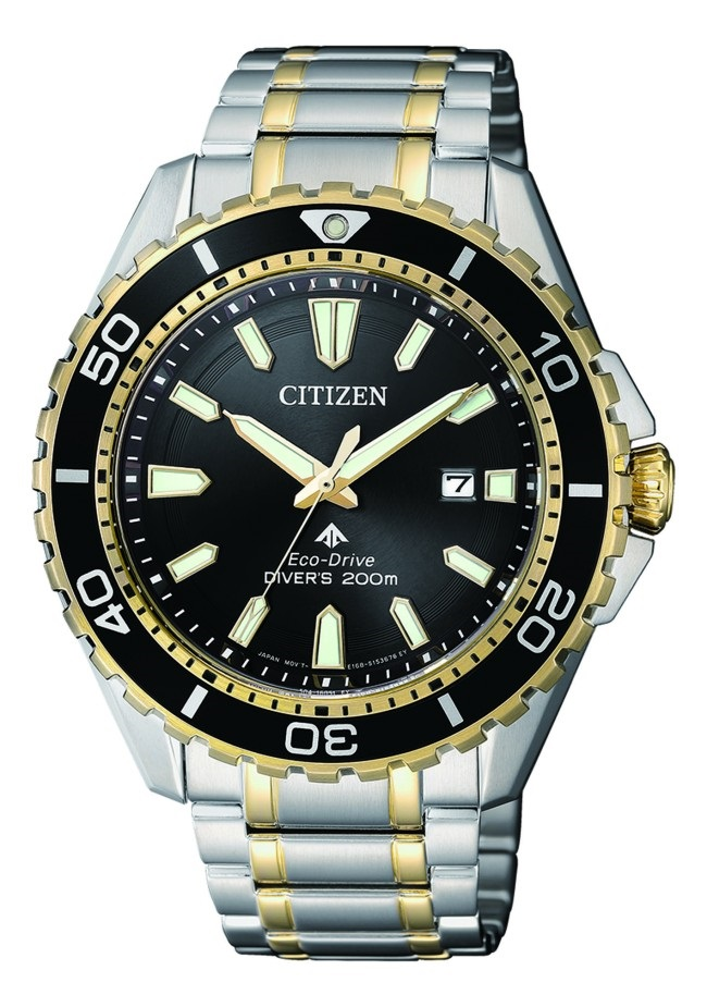 CITIZEN BN0194-57E Eco-Drive Mens Solar Diver's Watch WR200m