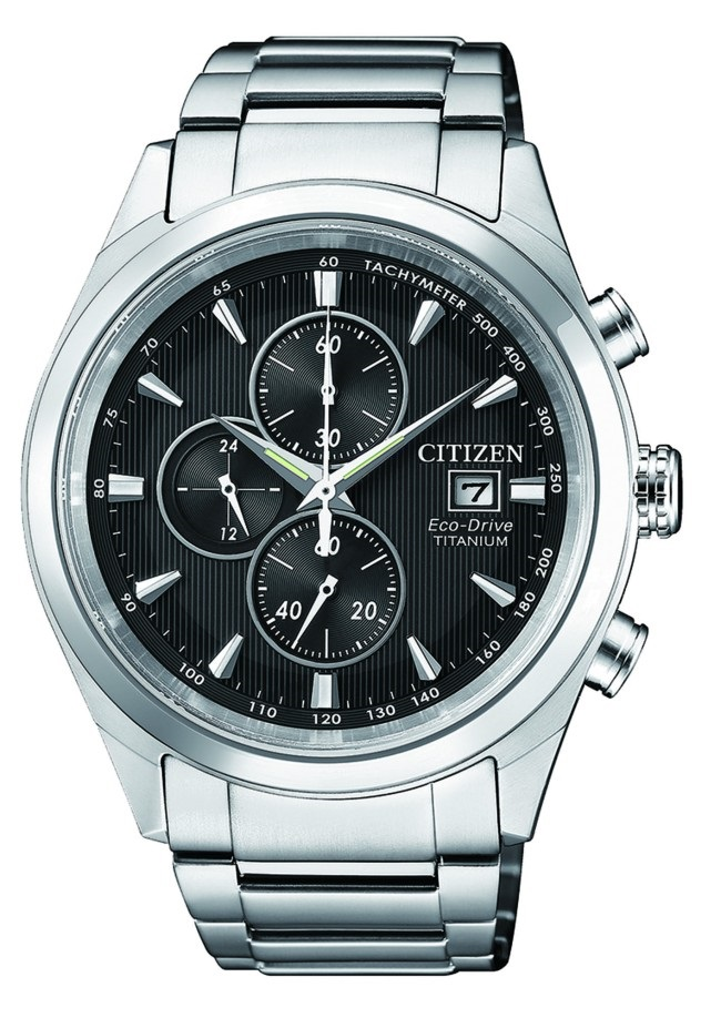 CITIZEN CA0650-82F Eco-Drive Mens Solar Watch WR100m Titanium