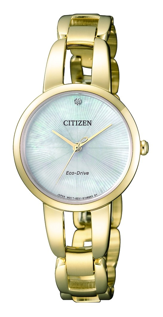 CITIZEN EM0432-80Y Eco-Drive Ladies Solar Watch WR50m Diamond