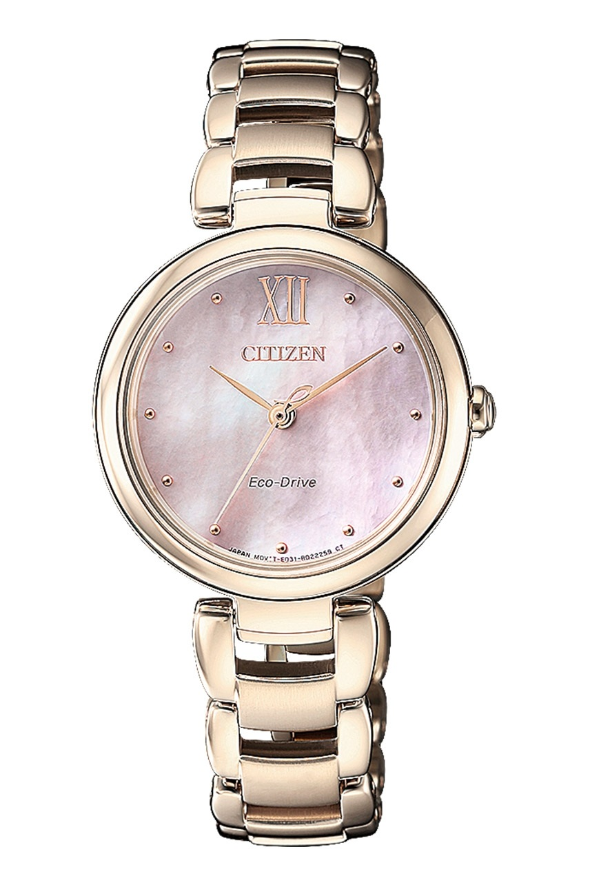 CITIZEN EM0533-82Y Eco-Drive Ladies Solar Watch WR50m Gold