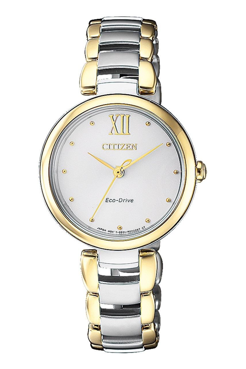 CITIZEN EM0534-80A Eco-Drive Ladies Solar Watch WR50m Gold