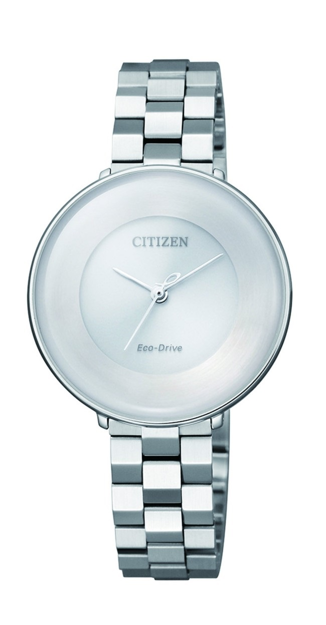 CITIZEN EM0600-87A Eco-Drive Ladies Solar Watch WR50m Silver