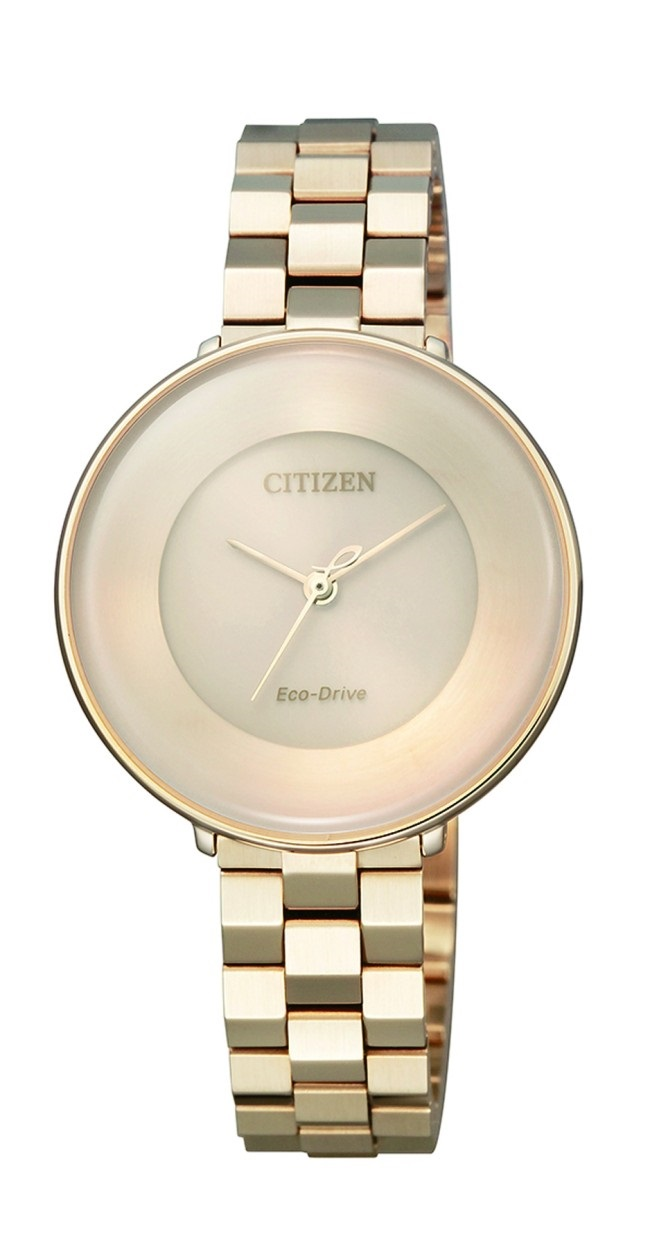 CITIZEN EM0603-89X Eco-Drive Ladies Solar Watch WR50m Gold