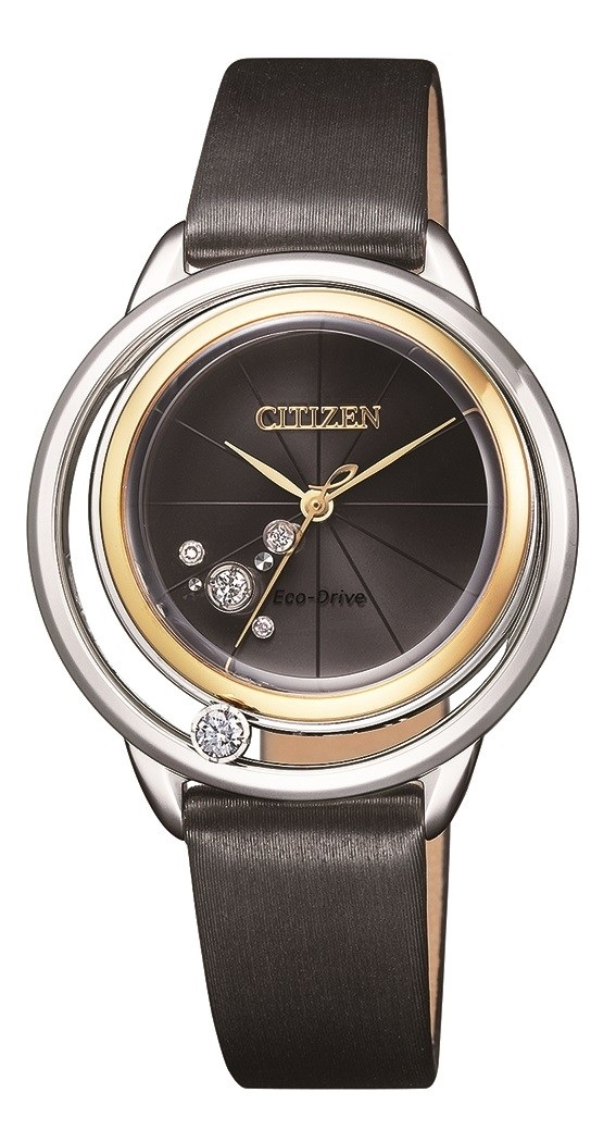 CITIZEN EW5524-16E Eco-Drive Ladies Solar Diamond Watch
