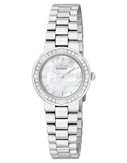 Citizen Eco-Drive EW9820-54D Ladies Dress Watch Mother of Pearl Crystal