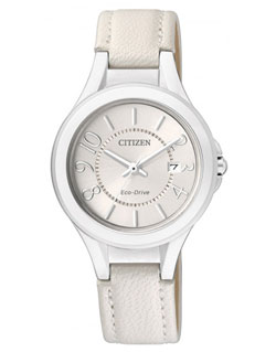 Citizen Eco-Drive FE1020-02W Ladies Dress Leather Band Watch