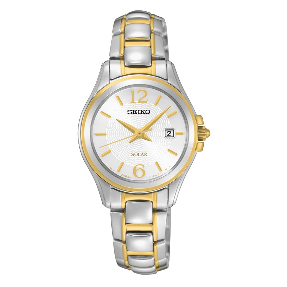 Seiko SUT250 SUT250P9 Ladies Solar two-tone Watch
